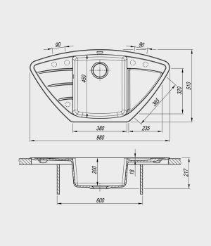 Флорентина Липси 980С чертеж схема