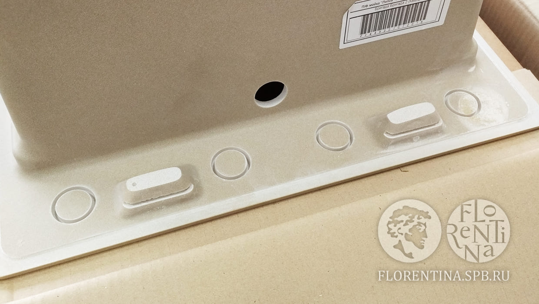 Кухонная мойка с решеткой Флорентина Липси 870Р