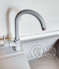 Флорентина Альфа FL смеситель, цвет грей (серый)