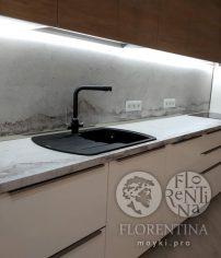 Флорентина Нире 760 цвет антрацит - кварцевая мойка